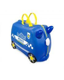 Trunki - Voiture de police Percy - Ride-on et valise de voyage - Bleu