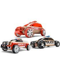 Automoblox - Mini S9 Police / X9 Fire / T900 Rescue - Voiture jouet créative