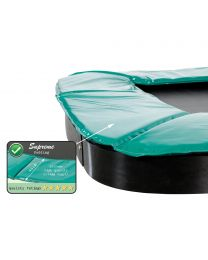 Exit - Supreme Ground Level Rectangulaire Trampoline - Vert