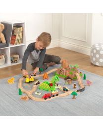 Kidkraft - Ensemble Train en bois Bucket Dinosaure