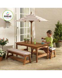 Kidkraft - Ensemble extérieur avec table et bancs pour enfants