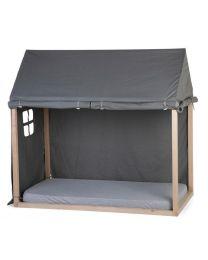 Childhome - Toile Petite Maison - 70x140 cm - Anthracite
