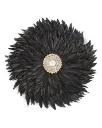Childhome - Juju Feathers 30 Cm - Anthracite - Décoration Murale