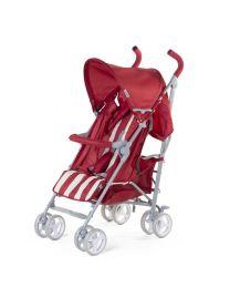 Childhome - Buggy 5 Pos Alu - Rouge/Blanc Retro Stripes