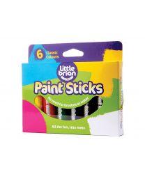 Little Brian - Bâtons de peinture Couleurs classiques - 6pcs