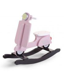 Childhome - Scooter - Pink/Black - Cheval à bascule en bois