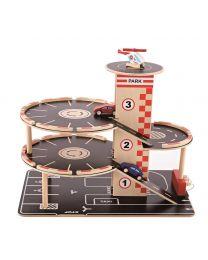 Hape - Park & Go Garage - Ensemble de jeu en bois