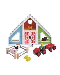 Hape - Barn Play - Ensemble de jeu en bois