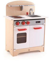 Hape - White Gourmet Kitchen - Cuisine pour enfants en bois