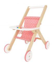 Hape - Stroller - Poussette pour poupées en bois