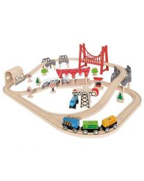 Hape - Double Loop Railway Set - Train en bois