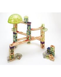 Hape - Quadrilla Space City Glow in the dark - Circuit de billes en bois