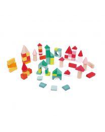 Janod - Kubix - 80 Cubes en bois