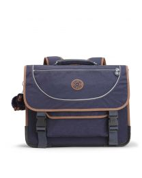 Kipling - Preppy Blue Tan Block - Cartable Bleu