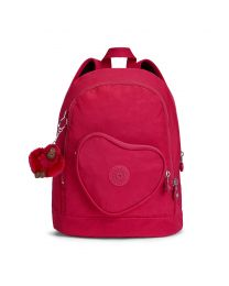 Kipling - Heart Backpack True Pink - Cartable Rose