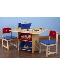 Kidkraft - Ensemble table et 2 chaises pour enfants avec motif d'étoile