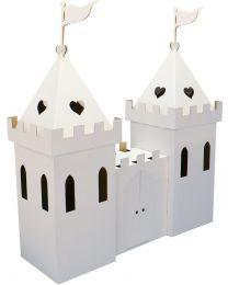 Kid Eco - Château de princesse en carton Blanc