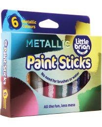 Little Brian - Bâtons de peinture Couleurs métalliques - 6pcs