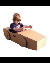 Paperpod - Voiture en carton Brun