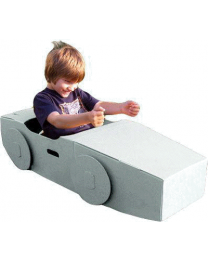 Paperpod - Voiture en carton Blanc