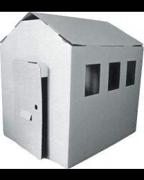 Paperpod - Grange en carton Blanc