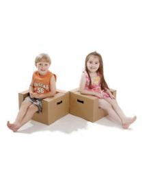 Paperpod - 2 Fauteils Enfant en carton Brun