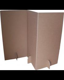 Paperpod - Paravent en carton (2x) Brun