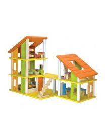 Plan Toys - Maison de Poupée Meublée - Bois
