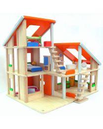 Plan Toys - Chalet Poppenhuis avec des meubles - Bois