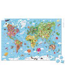 Janod - Puzzle Géant Carte Du Monde