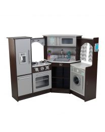 Kidkraft - Cuisine pour enfants En Bois Ultimate Corner Play Kitchen - Sons & Lumières