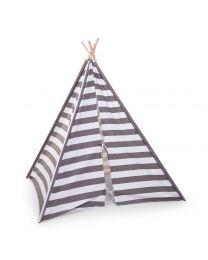 Childhome - Tente de Jeu Tipi Rayé - Gris/Blanc