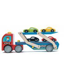 Le Toy Van - Camion de Transport de Voitures de Course - Bois
