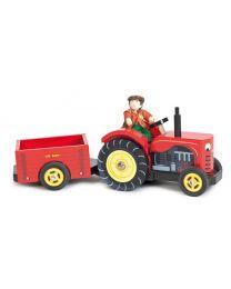 Le Toy Van - Le Tracteur de Bertie - Ensemble de jeu en bois