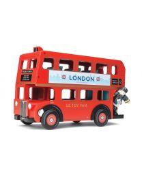 Le Toy Van - Bus de Londres et Conducteur - Ensemble de jeu en bois
