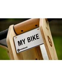 Wishbone Bike - Plaque Signalétique pour draisienne