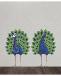 Wild & Soft - Sticker mural paon