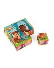 Janod - 9 cubes forêt