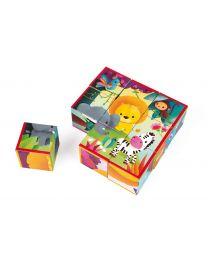 Janod - 9 cubes jungle