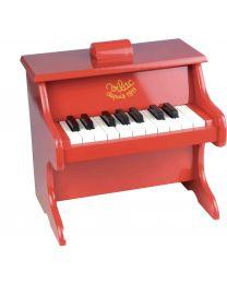Vilac - Jouet musical piano rouge en bois